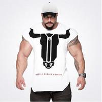 New Designer camisas academia de musculação Camiseta Sports T Homens T sem mangas da camisa do exercício Homme aptidão Tops Fina Imprimir Bulking Camiseta