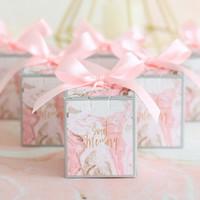 Contenitore di caramelle con nastro Scatola di cioccolatini Confezioni regalo Confezioni per matrimoni Borse per bambini Compleanno Bomboniere e regali