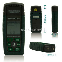 Freeshipping MASTECH MS6900 Taşınabilir Dijital Kereste Ahşap Nem Ölçer LCD Higrometre Sıcaklık Nem Ölçer Cihazı