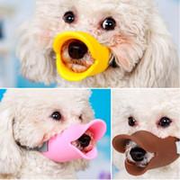 Hocico del perro de silicona pato lindo Boca Máscara Bozal corteza Bite parada Anti-mordedura de perro pequeño máscaras para 1pcs productos del perro accesorios para mascotas