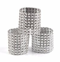 منديل خواتم الماس لحاملي الزفاف منديل رئيس حجر الراين الزنانير وليمة عشاء عيد الميلاد الديكور الجدول الذهب والفضة 777