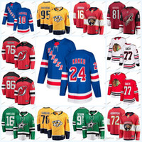 2019 نيو جيرسي رينجرز الهوكي الفانيلة 24 Kaapo Kakko 10 Artemi Panarin Devils 76 P. K. Subban 86 Jack Hughes Jersey 77 Cach Hockey
