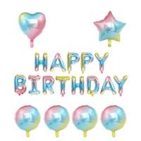 changer la couleur anniversaire Ballons Feuille D'aluminium Ballon Ballons D'hélium Anniversaire De Mariage De Bébé De Douche Parti Décoration Fournitures