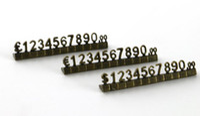 Luxus Metallpreiswürfel Schmuck kombiniert Preise Tags Euro Pfund Ziffernblöcke Ziffernuhr Schmuck Zähleranzeige Zeichen