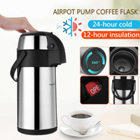 3L Stainless Steel Vacuum Pump Action Airpot Hot Cold Coffee...