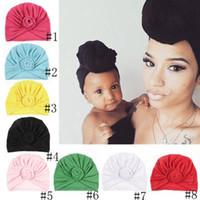 Bebê Top Knot Turban Rose Hat criança macia Turban Vintage estilo retro Cabelo Acessórios Meninas Meninos Envoltório principal EEA1318