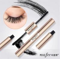 Faux cils + mascara Macfee 2 en 1 Maquillage en fibre de soie Cils 3D allongeant le mascara Volume Express Maquiagem 4d