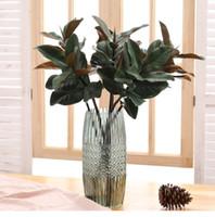 Falsa magnólia folhas ramo seda folhas tropicais planta mesa mesa decoração