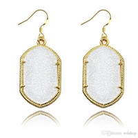 Gold Bezel Kendra Style Signature Earrings Bling Bling Geome...
