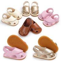 بنات طفل حزام جلد الصيف فضيحة طفل ووكر تنفس سرير مضاد للانزلاق الصنادل أحذية أطفال الصلبة لطيف 0-18 شهور