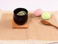 الخشب الوقايات خشبي خشبي الحرارة معزول الوسادة كأس شاي وسادات معزول الشرب ماتس ابريق الشاي الجدول ماتس GGA2389