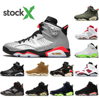 Nike AIR Jordan 6 Travis oliva 6 Mens Basketball Shoes 6s Reflect argento Jumpman Cactus Jack gatto nero oreo chaussures Designer scarpe da tennis addestratori formato 40-47