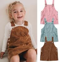 2020 Nueva vestido del niño de 0-5 años para niños de los bebés sin mangas Retro Mini vestido de la correa de las ligas de los guardapolvos de ropa
