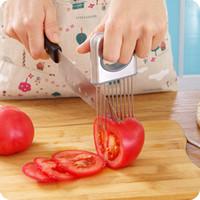Ablandador de carne de aguja Fácil Cebolla Holder cortadora de hortalizas Herramientas tomate cortador de acero inoxidable Gadgets de cocina No More Stinky Manos