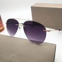 2019 new Luxury UV400 Schutz G 15 Linsen hochwertige metallrahmen randlose lila Sonnenbrille charmante designer männer frauen sonnenbrille