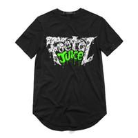 Nova Chegada de moda tendência marca de sucos de homens a impressão O-pescoço T-shirt de manga curta camiseta estilo de rua Circular hem hip hop Para os homens DHBOMC186