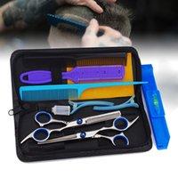 10 inç Saç Kesme İnceltme Styling Aracı Seti Saç Makas Paslanmaz Çelik Salon Kuaförlük Önlük Düz Diş Bıçakları