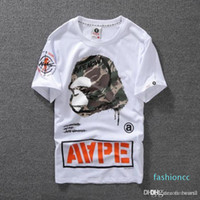 Hotsummer Lovers Mens Cartoon Apes T -Shirts Fashion Crew Neck Short -Sleeve Classic Camo Printed Supply Co Male Tops Tees Cartton Casual