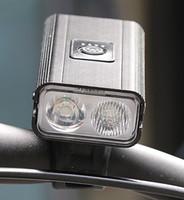 جديد مزدوج T6 دراجات مصباح USB شحن العرض في الهواء الطلق ركوب الخيل الكهربائية الضوء الأحمر تحذير الإضاءة دراجات العلوي
