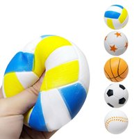 9CM Squishy Slow Rising Sport Ball Football Basketball Scent...