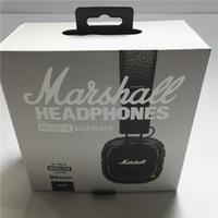 Marshall Major II Cuffie wireless con Mic DJ Major II Bluetooth Bluetooth Cuffia Cuffia Cuffia DJ Cuffie con scatola al minuto DHL GRATIS