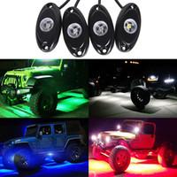 أضواء الديكور 4PIECES 9W LED روك ضوء الفيضانات LED ضوء 12V تحت الجسم للال 4x4 تريل تلاعب الضوء SUV ATV قارب السيارات
