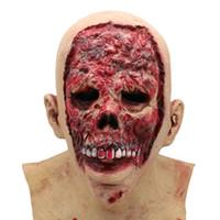Nuovo Crea Scary Halloween Maschere Zombie Horror Demone Sangue Ghost Hedging Maschera Vampiro Maschera Realistica Mascherata Halloween Maschere Spaventoso Fantasma