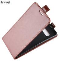 Luxury Leather Vertical Flip-Abdeckung für Samsung S20 Ultra-S10 S10e S9 S8 Plus-Hinweis 10 9 8 Up Down-Leder-Telefon-Kästen