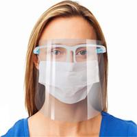 Escudo cara con marco de los vidrios anti-vaho de aislamiento Máscaras transparentes de protección anti-salpicaduras reutilizable Safty Mascarillas de diseño DHB415