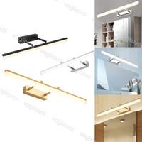 Lámparas de pared Lámpara de espejo LED AC100-265V 9W 12W 3500K 6500K Maquillaje de iluminación para interiores para el baño de dormitorio DHL