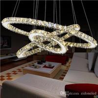 현대 K9 LED 크리스탈 샹들리에 서클 링 크리스탈 펜 던 트 라이트 리빙 Romm 다이닝 룸 Dedroom