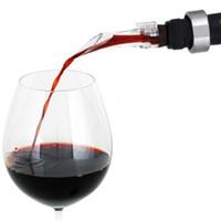 Nuevo rojo aireador de vino Boquilla vertedor de plástico transparente de acrílico de aireación vertedores Decanter simple Resuable Barra de Herramientas Eco Friendly libre de DHL