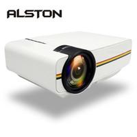 Upgrade-ALSTON YG400 YG410 Miniprojektor 1080P 1800Lumen Tragbarer LCD-LED-Projektor Heimkino-USB-HDMI 3D Beamer Bass-Lautsprecher