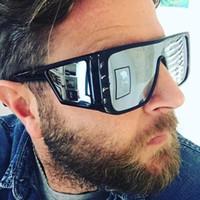 مصمم النظارات الشمسية الفاخرة النظارات الشمسية نظارات رجالي إطار كبير الشمس عاكس نظارات الموضة شاطئ عطلة نظارات بارد