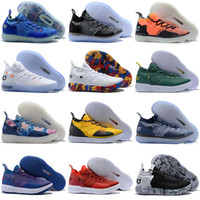 Kd 11 pas cher Chaussures Casual Hommes Femmes Jeunesse Rouge Paranoid Persique Violet PE Fly Kevin Durant 11s XI 2018
