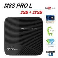 Amlogic S912 Android 7.1 TV Box Mecool M8S Pro L 3GB 32GB Octa Core Dual Band Wifi Youtube 4K Media Player