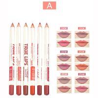 Menow Matte Lip Liner Crayon Ensemble imperméable Long Lasting Matte Lipliner Pen maquillage professionnel Outils cosmétiques 6pcs / set