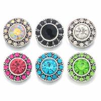 Moda 036 Crystal 3D 12mm Metal botón a presión para el collar de la pulsera joyas intercambiables mujeres accesorios hallazgos