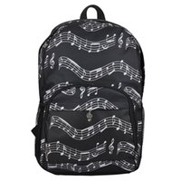 New Sale Musical Backpack Backpack Musical Notes Oxford Clot...