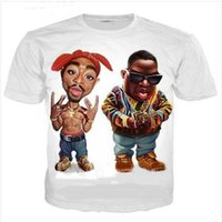 I più nuovi del Mens / Womans Biggie Smalls e 2Pac Estate Stile Tees 3D stampa casuale T-Shirt Top Formato più BB0149