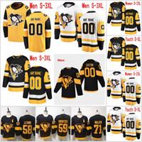 2020 jerseys del hockey nuevo estilo 62 Carl Hagelin 22 Matt Hunwick 17 Bryan Rust Jersey personalizado 8 Brian Dumoulin 3 Olli Maatta Hombres Mujeres Jóvenes