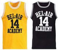 Доставка у нас будет Смит # 14 Свежий принц Бел Академия Академии Мужчин Баскетбол Джерси Все сшитые S-3XL Высокое качество