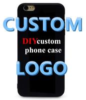 カスタマイズされたロゴ電話ケース6 7 XR XS Max Samsung Galaxy S6 S7 Edge S8 S9 Plus DIYケースのカスタムケース