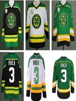 """Personnalisé Ross """"The Boss"""" Rhea GOON Film Maillot de hockey sur glace St Johns Shamrocks pour homme Tout nom Numéro Maillot Vert Noir Blanc"""