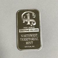 5 PC Nicht magnetischer Nordwest No.1 Abzeichen Messingkerne Silber plattierten bar 50 x 28 mm Münzen vaccumn Luft frei Paket Barren commemorate bar