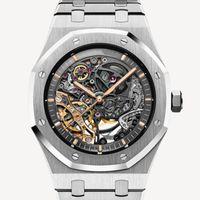 Luxus Rose Gold Mode Männer Automatische Bewegung Skeleton Herren Designer Uhren Armbanduhren Orologio di Lusso Royal Oaks Uhr Montre