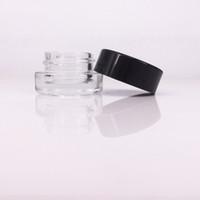 yeni gelenler 5 ml cam şişe siyah kapaklı cam kavanozlar kalın yağ gemi için kapaklı Ücretsiz