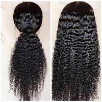AlrenceHuman باروكة شعر الهنود باروكات الشعر الرباط الصف الأمامي 150٪ كثافة 13x4 أمام الدانتيل نسيج شبه الميكانيكية وشبه اليدوي