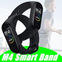 M4 intelligent Band Fitness Tracker Montre bracelet Sport Montre de fréquence cardiaque intelligent 0,96 pouces Smartband Health Monitor Wristband PK mi Band 4 M3