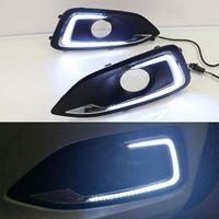 신호 램프 안개 빛 운전 범퍼 시보레 11 ~ 15 / 15 ~ 17 말리부의 자동차 스타일링을 켜기 빛을 실행 2X LED DRL 주간